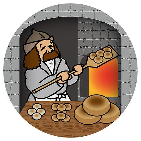 中世フランスのパン屋