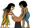 古代エジプトのパンづくり